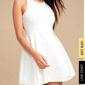 Cutout and About White Skater Dress